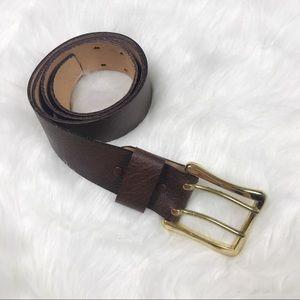 Accessories - Large Buckle Cowhide Belt - Size 34
